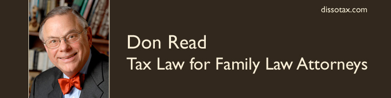 Don Read, Tax Law for Family Law Attorneys